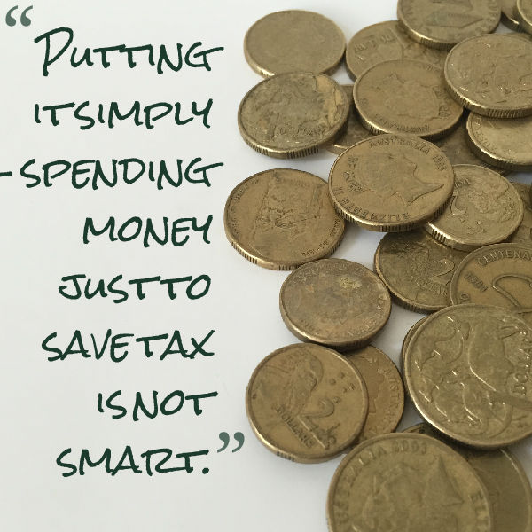 Spending money to save tax